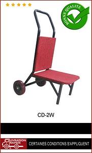 Chariot deux roues pour chaises