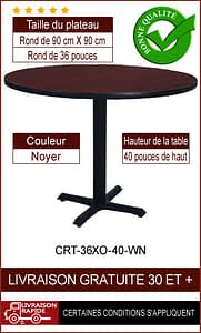 """Ensemble de table de restaurant complet 36"""""""