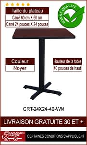 """Ensemble de table de restaurant complet 24x24"""""""