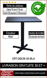 """Ensemble de table de restaurant complet 28x28"""""""