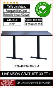 """Ensemble complet de table de restaurant 32x48"""""""